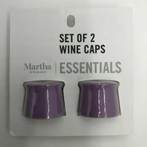 Martha Stewart Essentials Set of 2 Wine Caps Purple Dishwasher Safe Seal... - $11.11