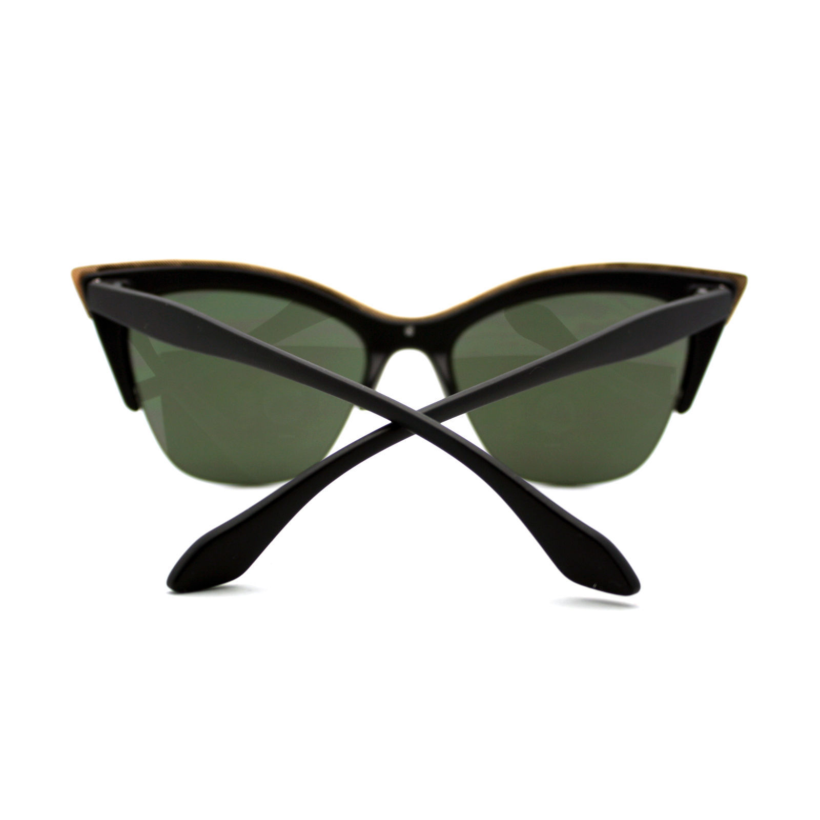Stylish Womens Sunglasses Half Rim Cateye Designer Fashion Shades