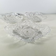 """American Brilliant Period Cut Glass Dishes 7""""  & 1 is 10"""" Qty of 2 - $141.56"""