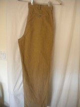 Perry Ellis Size 36/30 Pleated Cuffed Tan Mens Career Corduory Pants - $8.91