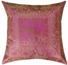 66x66cm Pink Euro Schein Kissenbezug Seide Brokat Sofabett Überwurf Dekor - $19.71