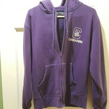 Capital University Sweatshirt Zipper Hoodie Jansport Unisex S Purple Crusaders - $14.85