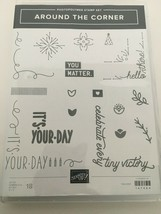 Stampin Up Around the Corner Photopolymer Cling Stamp Set #147464 Retire... - $24.99