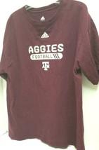 Texas A & M Aggies Football Maroon T-shirt with logo by Adidas  Pre-owne... - $12.16