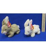 2 TY Beanie Babies Plush Original Stuffed Animals 1998 Nibbler And Nibbl... - $12.86