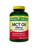 Spring Valley MCT Oil 1000 mg, Heart Health, 90 Softgels - $11.63
