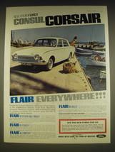 1963 Ford Consul Corsair Ad - New from Ford! Consul Corsair Flair Everywhere! - $14.99