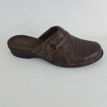 Clarks Bendables Mules Brown Leather Womens 9 M - $28.04