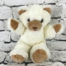 Teddy Bear Plush Cream Brown Face Paws Sitting Stuffed Animal Soft Toy - $14.84