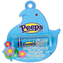 LOTTA LUV* Peeps Scented COTTON CANDY MARSHMALLOW CREAM Lip Balm BLUE Ea... - $3.49