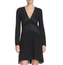 $450 NWT Tory Burch Varenne Tunic Metallic Trim Silk Black Dress sz 8 - $179.99