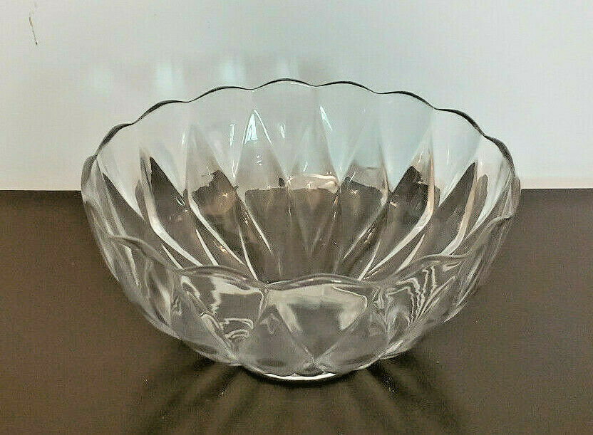 "Primary image for Vintage Heisey Diamond Pattern 10"" Glass Punch Bowl"