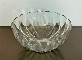 "Vintage Heisey Diamond Pattern 10"" Glass Punch Bowl - $69.30"