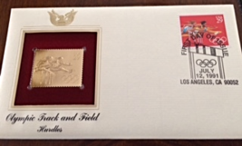 OLYMPIC TRACK & FIELD - Hurdles  FIRST DAY OF ISSUE STAMP: Jul. 12, 1991 - $8.50