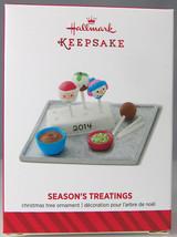 SEASON'S TREATINGS 2014 Hallmark Christmas Holiday Ornament NIB Making C... - $9.50