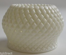 """Westmoreland Glass English Hobnail Milk Glass Rose Bowl 3"""" T Collectible... - $14.99"""