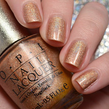 OPI Designer Series DS GLOW Bronze Copper Holographic Shimmer Nail Polis... - $15.97