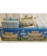 """1992 PRECIOUS MOMENTS Two By Two """"The Noah's Ark Story"""" 8 Piece Set w Bo... - $107.96"""
