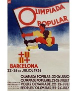 3331.People's Olympiad.Barcelona Spain Travel POSTER.Home Room art decor... - $10.89+