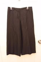 Ann Taylor LOFT Marisa Linen Wide Leg Capri Cropped Pants Dressy Sz 4 Ga... - $19.77