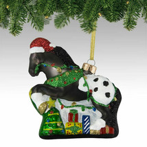 Appy Holidays Glass Painted Pony Ornament - $29.95