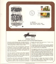 World War II, Battle of Leyte Gulf, Vintage Stamps, 1st Day of Issue, 29... - $3.25