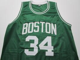 PAUL PIERCE / AUTOGRAPHED BOSTON CELTICS CELTICS CUSTOM BASKETBALL JERSEY / COA image 2