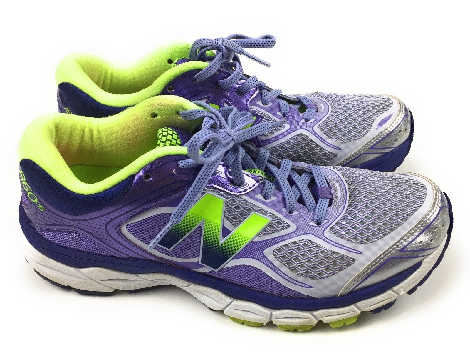 New Balance 860v6 Athletic Running Shoes W860GP8 Purple Green Women's Size 8 US image 6
