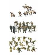 3 Tamiya Models - US Army, German Panzer Grenadier and Russians with Tan... - $36.62