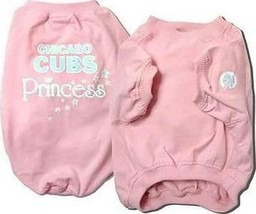 Sporty K9 MLB Chicago Cubs Pink Pet T-shirt, X-Small - $21.32