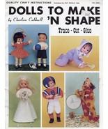 Dolls to Make 'N Shape Trace Cut Glue Pat Depke Pattern Booklet - $2.67