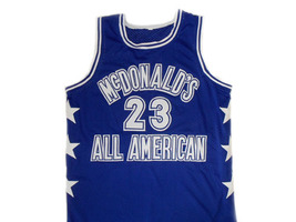 Michael Jordan #23 McDonald's All American Basketball Jersey Blue Any Size image 1