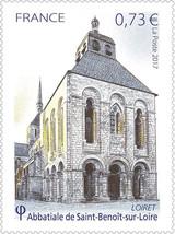 2017 France Stamp Abbey Church Saint Benoit Sur Loire MNH Mint NH - $2.07