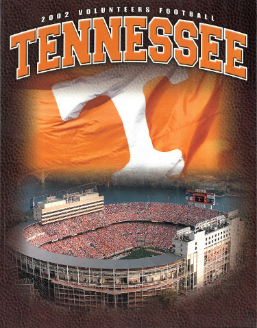 Tennessee Volunteers 2002 College Football Official Media Guide/Program- excelle