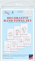 """Jack Dempsey Stamped Decorative Hand Towels 17""""x28"""" 7/Pkg Christmas Orna... - $22.30"""