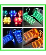 LED Flashing Shoelaces Luminous Glowing Silicone Light Up Shoe Lace 5pa... - $48.99
