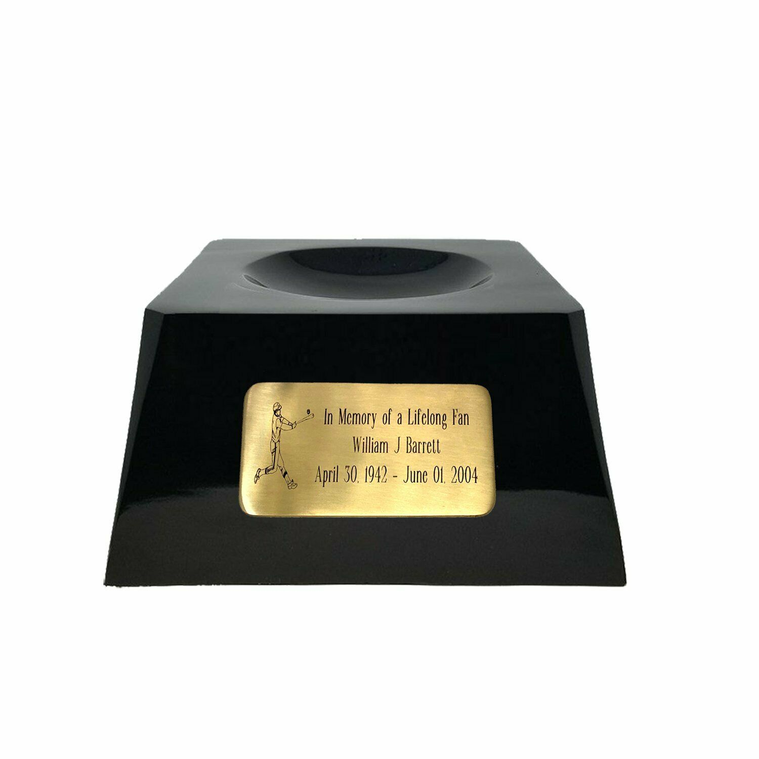 Large/Adult 200 Cubic Inch Chicago Cubs Metal Ball on Cremation Urn Base image 3