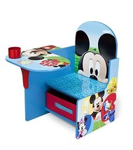 Kids Dinning Set Craft Table Disney Mickey Mouse  Station Arts Storage F... - $39.59