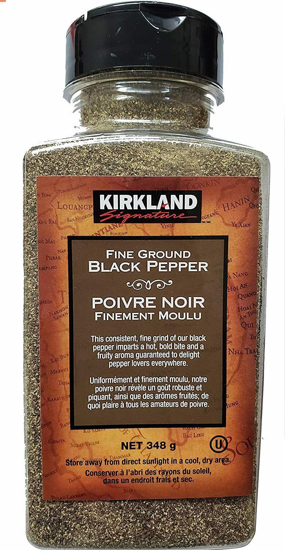 4 PACK Kirkland Signature Fine Ground Black Pepper, 12 Oz / 348g  - FRESH CANADA - $40.05