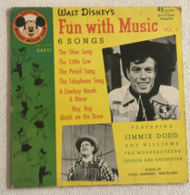 Walt Disneys fun with music picture SLEEVE ONLY 1955 Mickey Club record 45 - $16.06