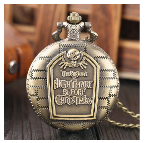 Primary image for Tim Burton The Nightmare Before Christmas Quartz Pocket Watch