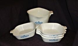 Vintage 5 Piece Blue Corn Flower Corningware Dish SEt - $9.90
