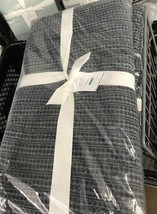 Pottery Barn Honeycomb Duvet Cover Midnight Blue King 2 Euro Shams 3pc  - $248.00