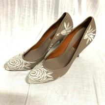 Bcbg Maxazria Zapatos Clásico Floral Cuero Sandalias Zapatillas Talla:10/40 - $26.79