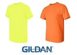 32 T-SHIRTS Blank 16 Safety Green 16 Safety Orange Bulk Lot S-XL Gildan 5000 - $75.60