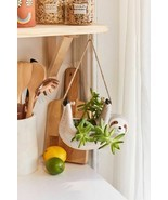 Sloth Ceramic Hanging Planter NWT for Airplant Succulent Cactus New  - $28.43 CAD