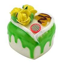 Set of 2 Artificial Cake Lifelike Cake Model Heart-shaped Fake Cake, Yel... - $13.07