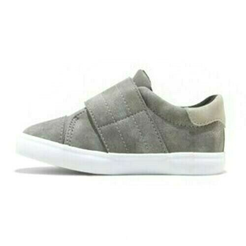 Cat & Jack Gray Lorenzo Toddler Boys Kids Faux Leather Slip-On Summer Shoes NWT