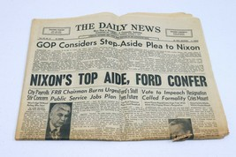 Vintage Aug 7 1974 PA Daily News Newspaper Richard Nixon Plea Considered - $29.69