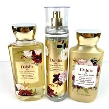 Bath and Body Works Dahlia Set Shower Gel Body Lotion Fine Fragrance Mist - $26.72